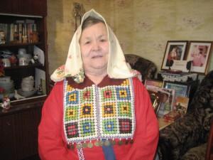 Александра Матвеевна в национальном наряде сургутских ханты