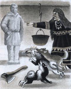 Иллюстрация из кн. Мансийские сказки. – СПб. Дрофа, 2003