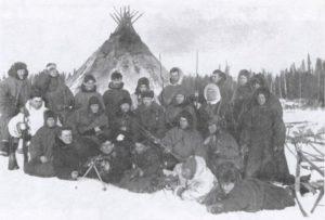 Опергруппа ОГПУ, проводившая карательную операцию в тундре. Март 1934 г.